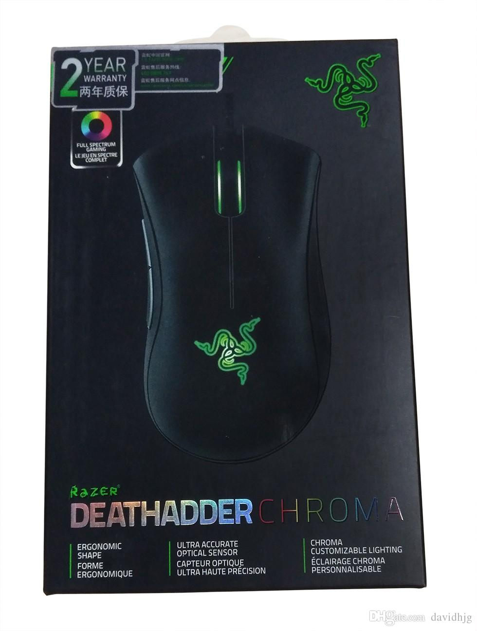 Razer Deathadder Chroma The World s Best Gaming Mouse 10000dpi optical  sensor Up to 300 inches per second/50g acceleration