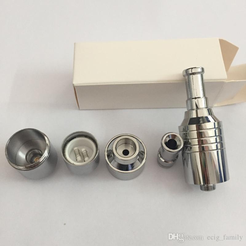 Nouveau double céramique atomiseur de la chambre de céramique de chauffage de réservoir de vaporisateur de fumer de la cire de l'huile concentré dax atomiseur fit 510 ego fil batterie