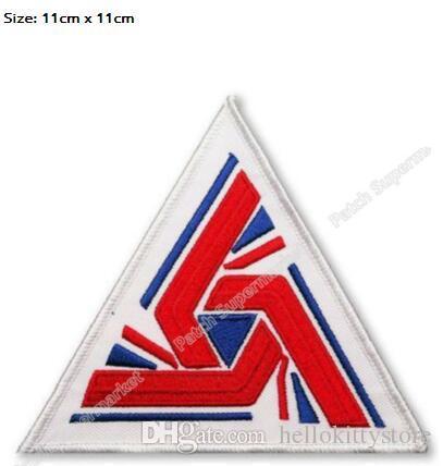 "ALIEN ALIENS USCSS NOSTROMO Crew Uniform Patches ""UK TERRITORIES UNION JACK"" TV movie film cosplay costume iron on applique"