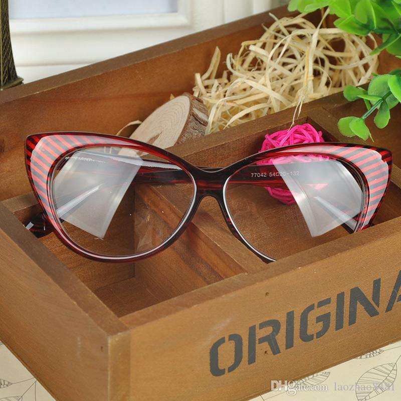 2f9a2d59b94 Plain Eye Frame Spectacle Cat Eye Glasses Eye Styling Leopard ...