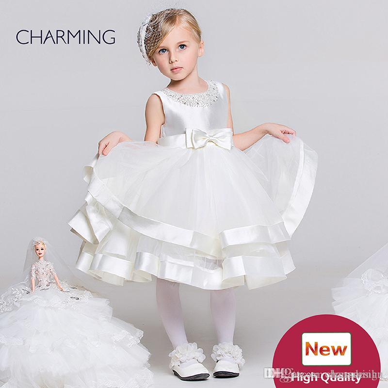 4542a9342 Dresses For Toddlers White Designer Baby Girl Clothes Beautiful Flower Girl  Dresses Flower Girl Wedding Chinese Wholesale Suppliers Off White Flower  Girl ...