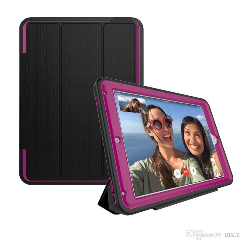 Full Body Protective Shockproof Heavy Duty Impact Hybrid Slicone TPU Hard Case Smart Cover For iPad 2 3 4 6 7 Pro 9.7 Mini Mini4