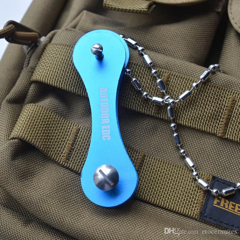 혼합 7 색 다채로운 스마트 스틱 키 체인 휴대용 키 폴더 하드 산화물 알루미늄 포켓 키
