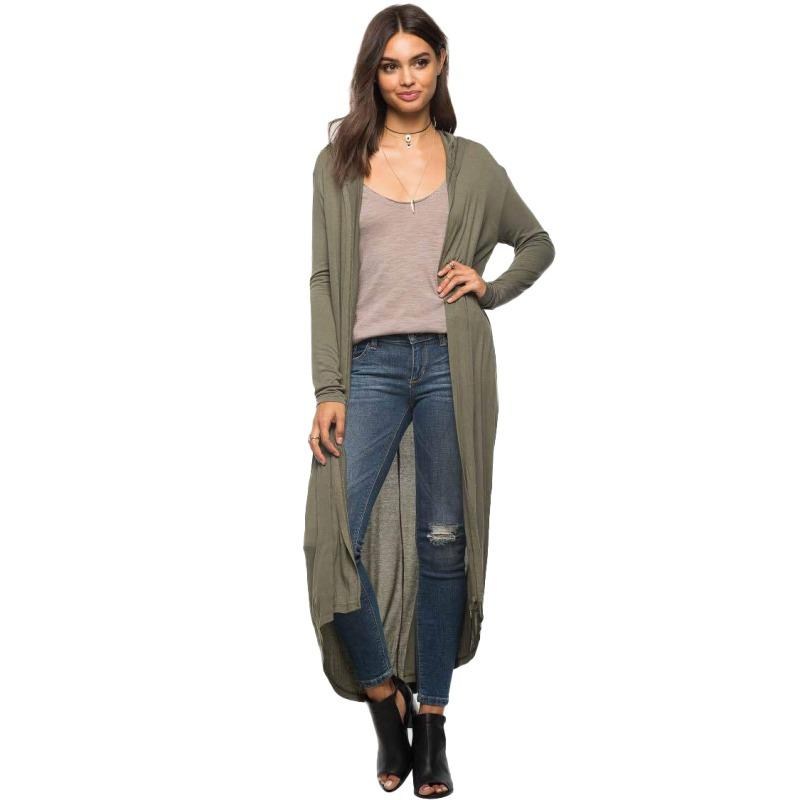 489ec648a56 Wholesale- Women's Autumn Long Maxi Cardigan Long Sleeve Loose Knitted  Sweater Girls'Outwear