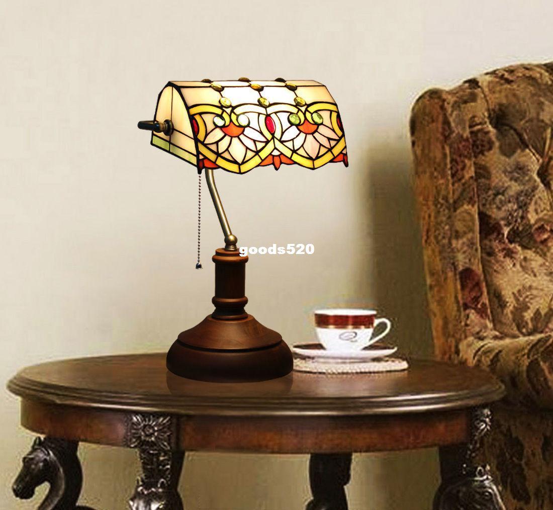 2018 makenier vintage tiffany style stained glass bankers lotus 2018 makenier vintage tiffany style stained glass bankers lotus flower desk lamp from goods520 1387 dhgate izmirmasajfo