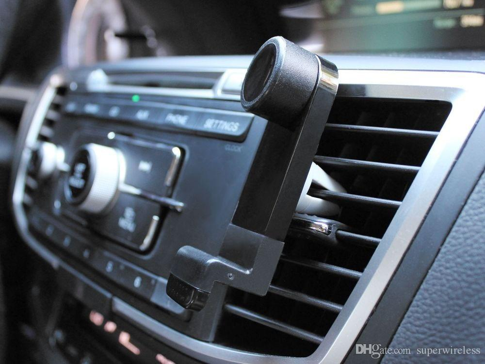 Universal Portable Air Car Vent vent Mount, soporte para teléfono móvil, marco para GPS, giro de 360 grados para el teléfono inteligente iPhone 6 Plus 5S con paquete
