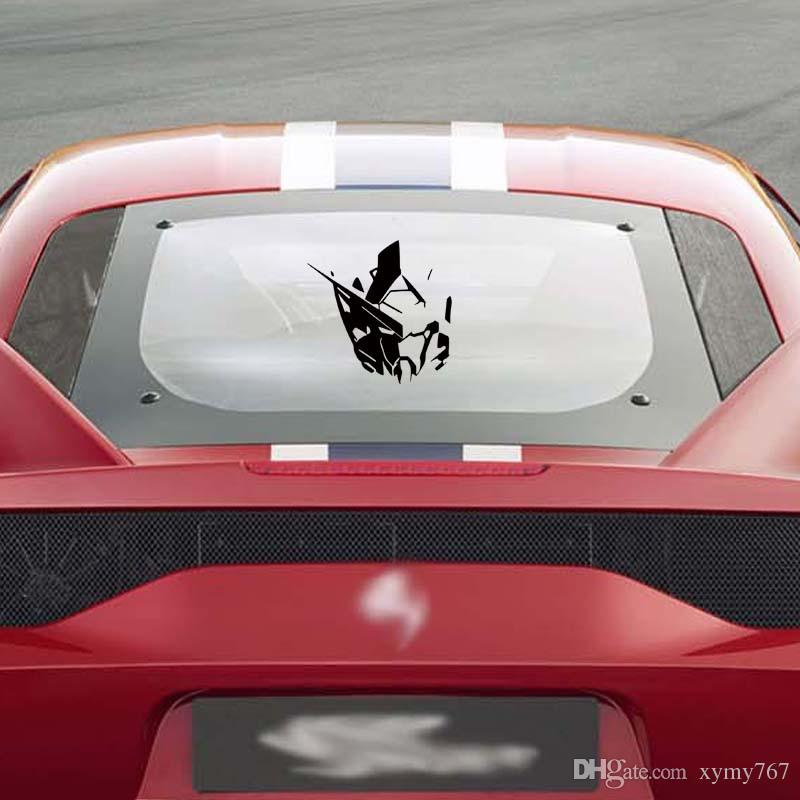 Car Styling For Gundam Exia Gn001 Head Vinyl Decal Sticker Robot Manga Anime Jdm Window Car Accessories Decor