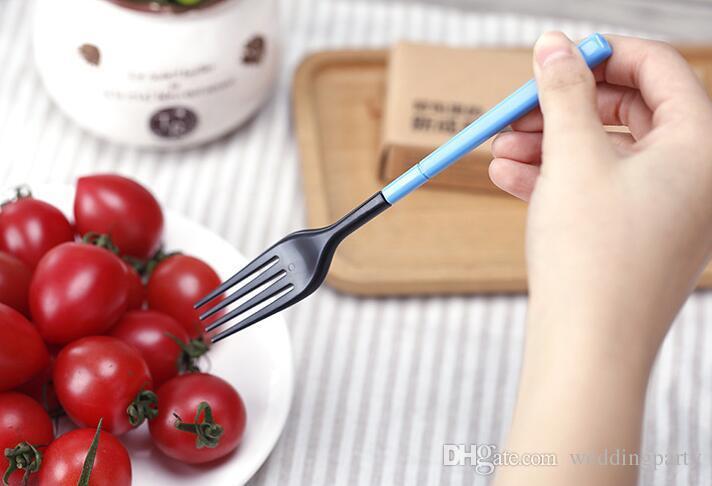 الجملة / مجموعة أدوات المائدة المحمولة نزهة عيدان ملعقة شوكة ، وحرية الملاحة