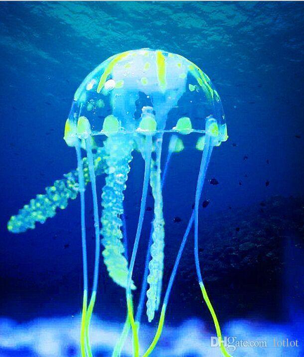 Artificial Glowing Jellyfish Ornament Fish Tank Aquarium Decoration Aquarium decorative landscape aquarium luminous jellyfish