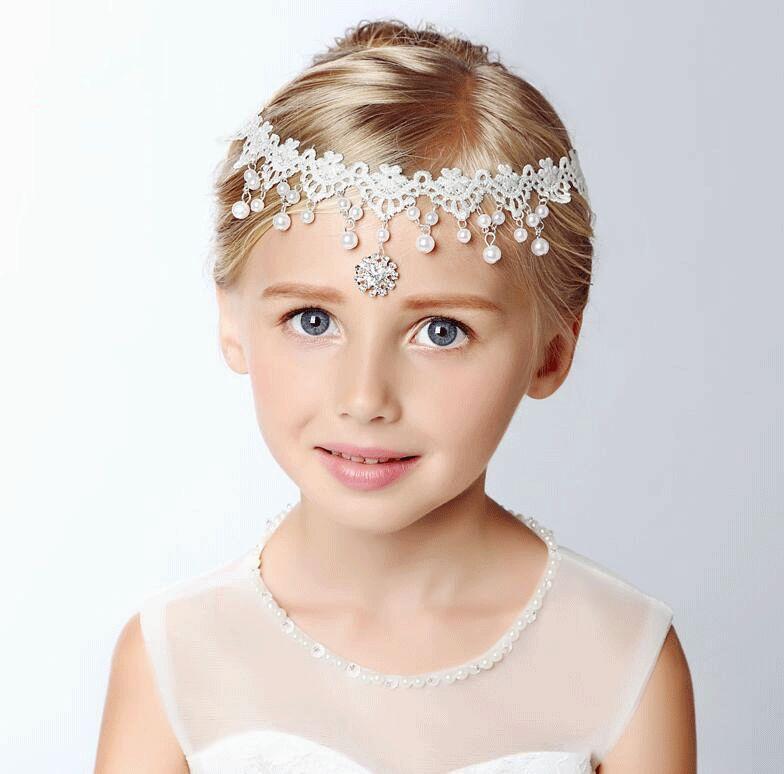 2018 Wedding Forehead Chain Children Princess Girl Hairband ...