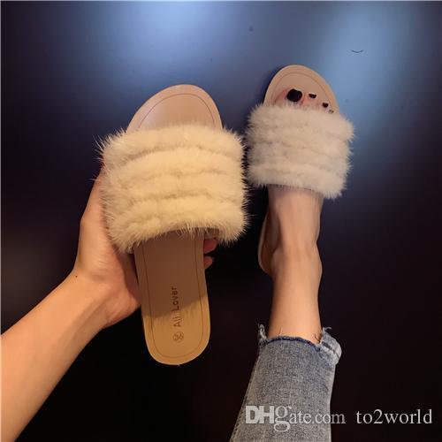 2017 Leadcat Fenty Rihanna Chaussures pour Femmes Pantoufles Sandales À L'intérieur Filles Mode Diapositives De Fourrure De Star Star SWith Chaussures