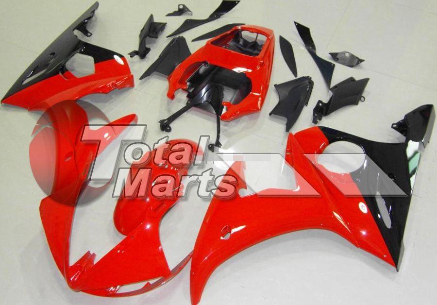Carenado para YZF-R6S YZF R6S 06 07 08 09 2006 2007 2008 2009 Inyección ABS Negro-Rojo FA9610 Plateado FA9613 Negro 14 Blanco 23 Rojo 25