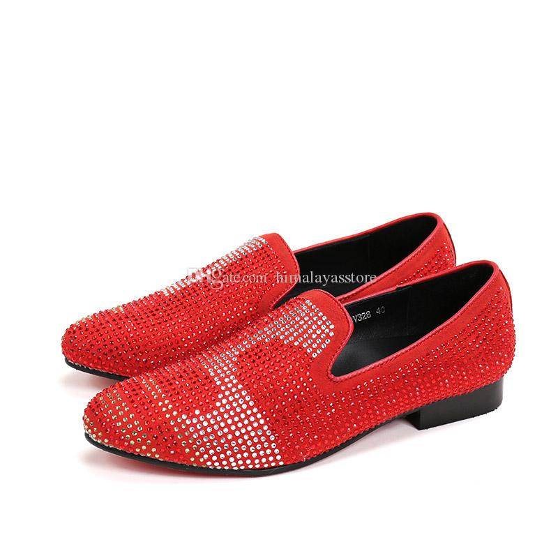 0794d1649 Fashion Classic Dress Mens Shoes Genuine Leather Red /Black Loafers Slip On  Men Prom Shoes Italian Luxury Wholesale Shoes Black Shoes From  Himalayasstore, ...