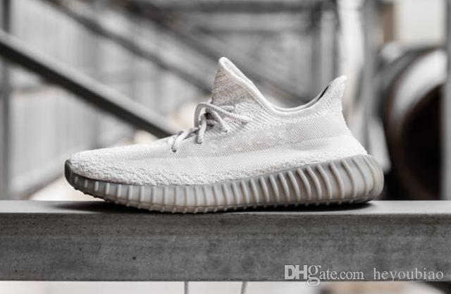 6677a8cb6a2a5 White Grey Boost 350 V2 Mens Running Sports Shoes Outdoor Kanye West Women  Boosts 550 Sneaker Size 36-46 B B W Online with  68.05 Pair on Heyoubiao s  Store ...