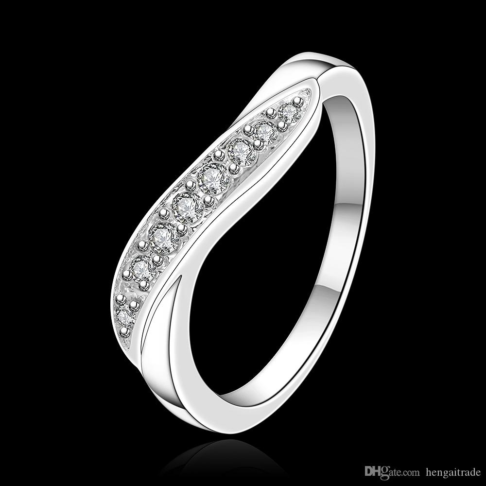 Wholesale 925 Sterling Silver Plated Fashion Twisted shape ring Jewelry LKNSPCR159