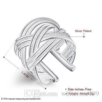 Wholesale  - 小売価格クリスマスプレゼント、送料無料、新しい925銀ファッションリングR24