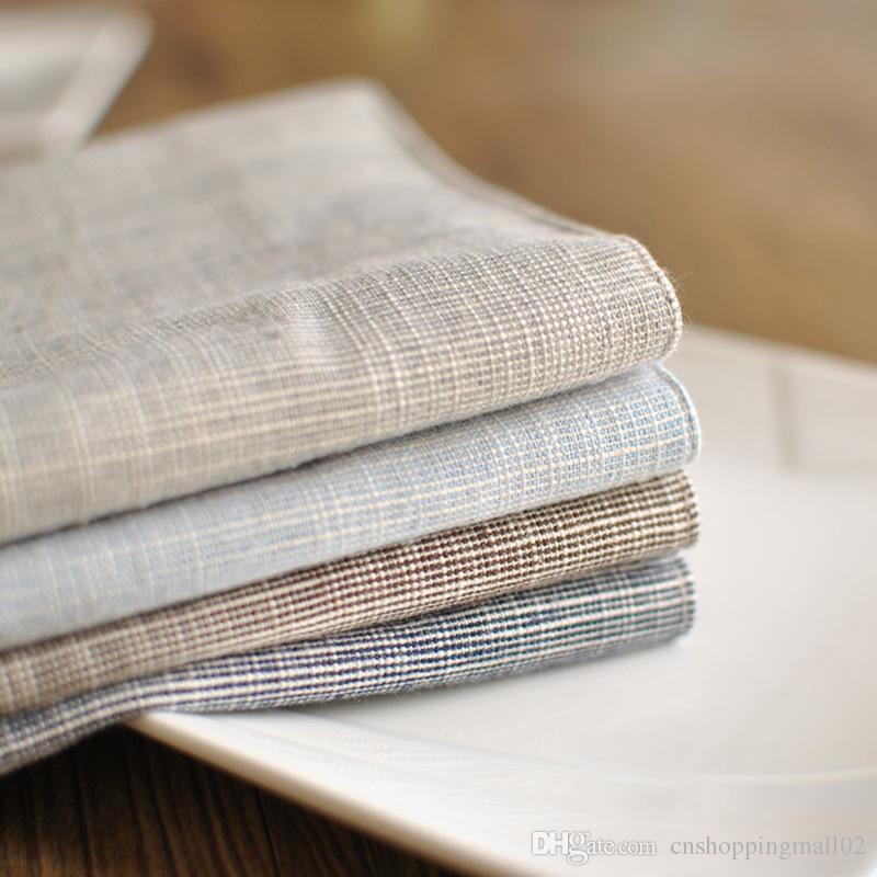 Bz Table Mats Tableware Mats Pads Cotton Mat Plain Stripe Cloth - Factory direct table pads