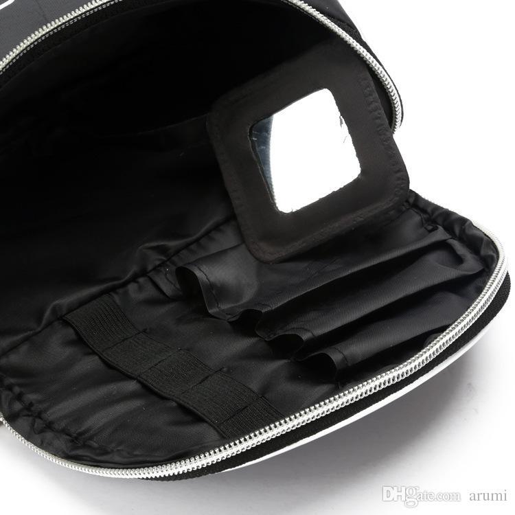 Fabbrica calda diretta! 100 pezzi / lotto Nuovo sacchetto di trucco con la borsa cosmetica della chiusura lampo! con logo spedizione gratuita da dhl