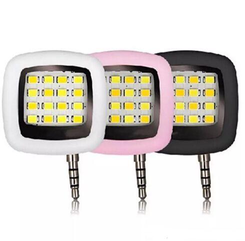2017 portátil Mini 16 Leds Lámpara LED Flash IBlazr Dimmable Fill-IN Light Pocket Spotlight para iPhone IOS Android Smartphone cámara Universal