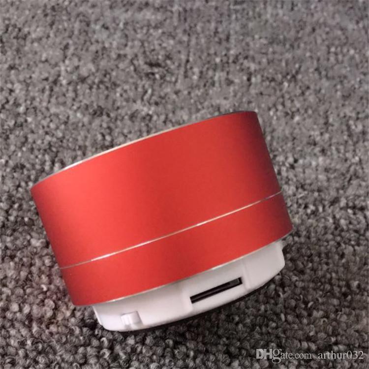 Mini sans fil Bluetooth Haut-parleur moderne en alliage d'aluminium de cylindre Haut-parleurs Subwoofers TF carte Mini Bluetooth sans fil haut-parleurs A10
