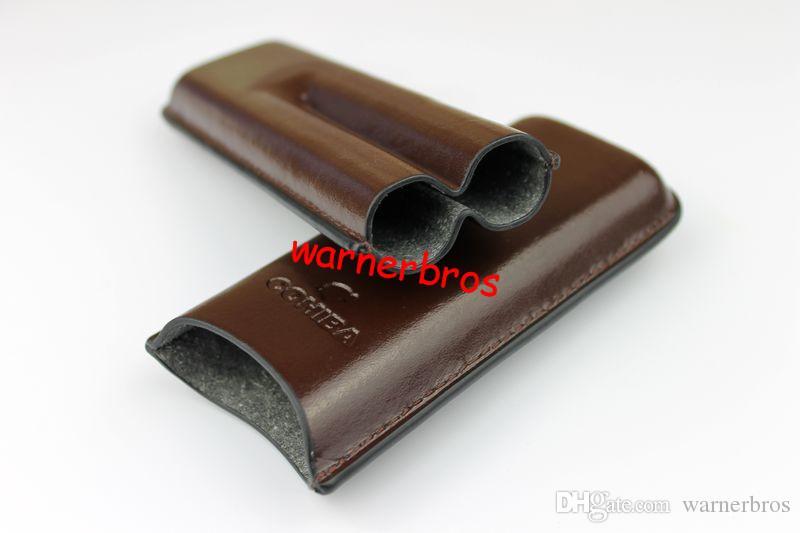 16d3968967 Acquista Custodia In Pelle Di Sigaro Da 5 Sigarette Borsa Da Sigaretta Di  Tabacco In Umido Con Doppio Sigaro Custodia In Pelle Da Viaggio Custodia Da  ...