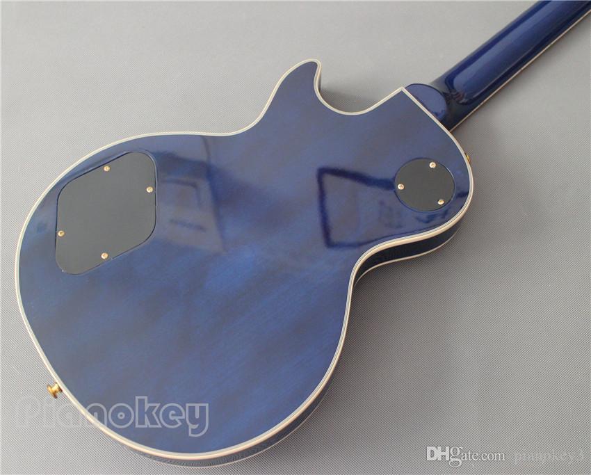 Toptan Mavi renk Özel gitar kitleri, stokta elektrik gitar, Çin'de yapılan