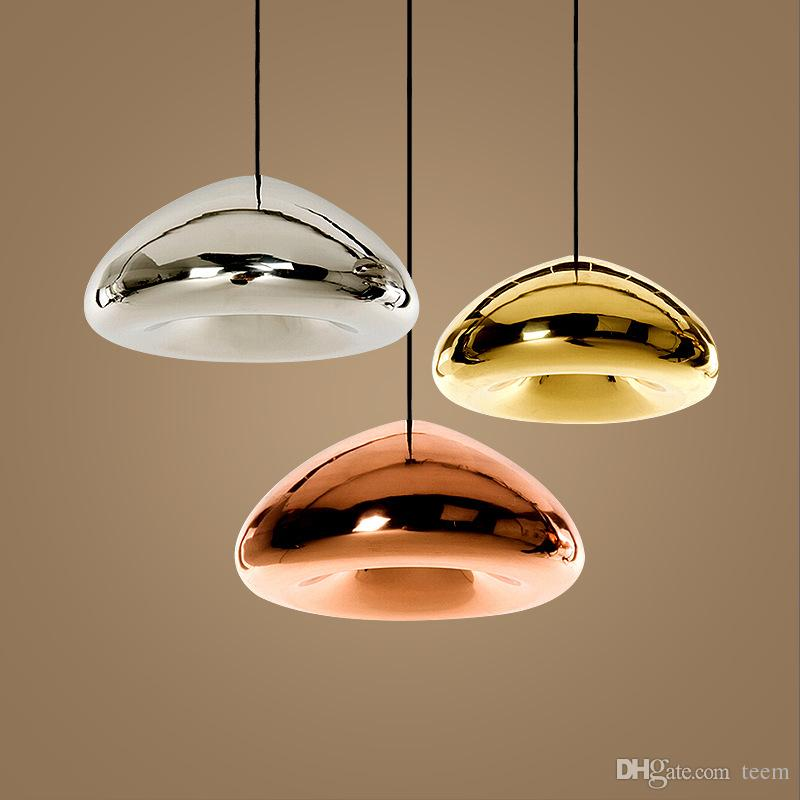 GoldSilverCopper Lampshade Glass Pendant Light Fixtures Modern - Small pendant light fixtures for kitchen