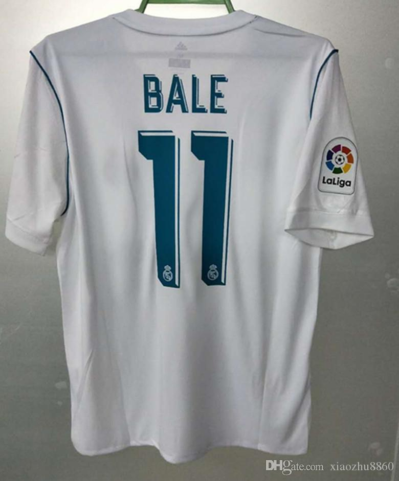 half off 05416 96308 2017 2018 home white Real Madrid Soccer Jersey 17/18 CR7 soccer shirt  Ronaldo Bale Football uniforms Asensio SERGIO RAMOS zidane isco sales