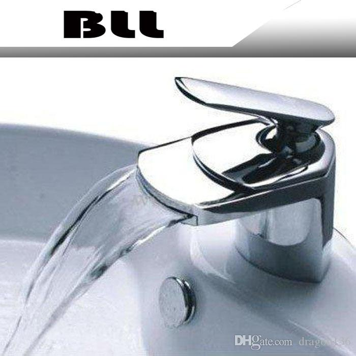 BLL Moderne Chrom Badezimmer Becken Messing Wasserhahn Einzigen Griff  Waschbecken Mischbatterie Deck Montiert NY02727