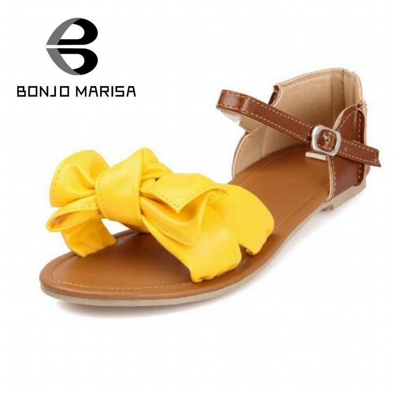 eeb3bac59d94b0 Wholesale-Big Size 33-ful Fashion Summer Sweet Women Flat Sandals ...