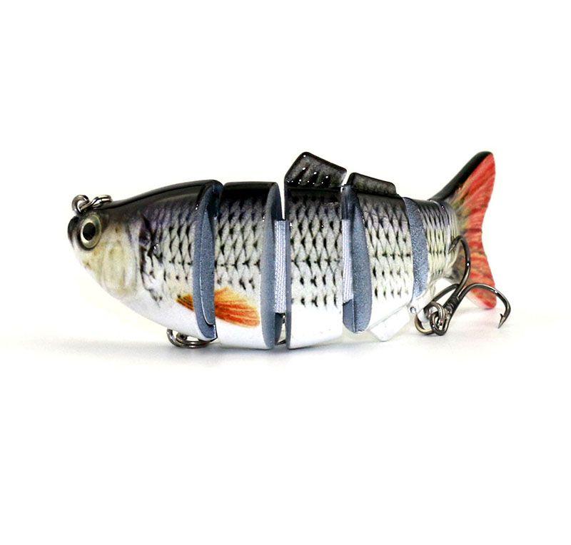 Lifelike Fishing Lure 6 Segment Swimbait Crankbait Hard Bait 10cm 18g Artifical Lures Fishing Tackle