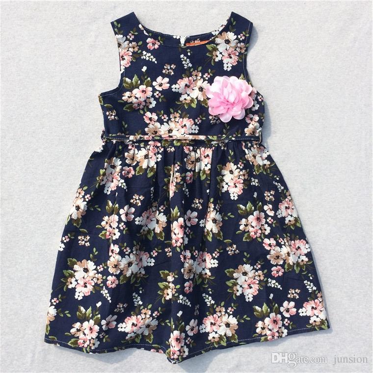 Hot Sale Girls Summer Dresses Lovely Baby Girls Dresses Casual New Dresses Children Clothing Bohemian Princess For Big Girls Kids Dress