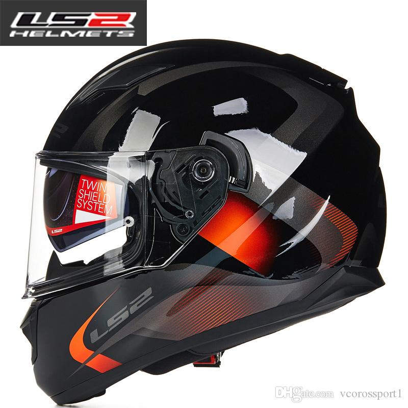 Ls2 Ff328 Full Face Motorcycle Helmet With Inner Sun Visor Man