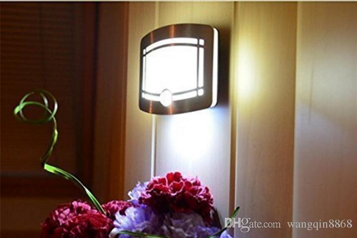 Wireless Infrared Motion Sensor Wall LED Night Light Novelty Battery Powered Porch Night Lamp Motion Sensor Light For Home