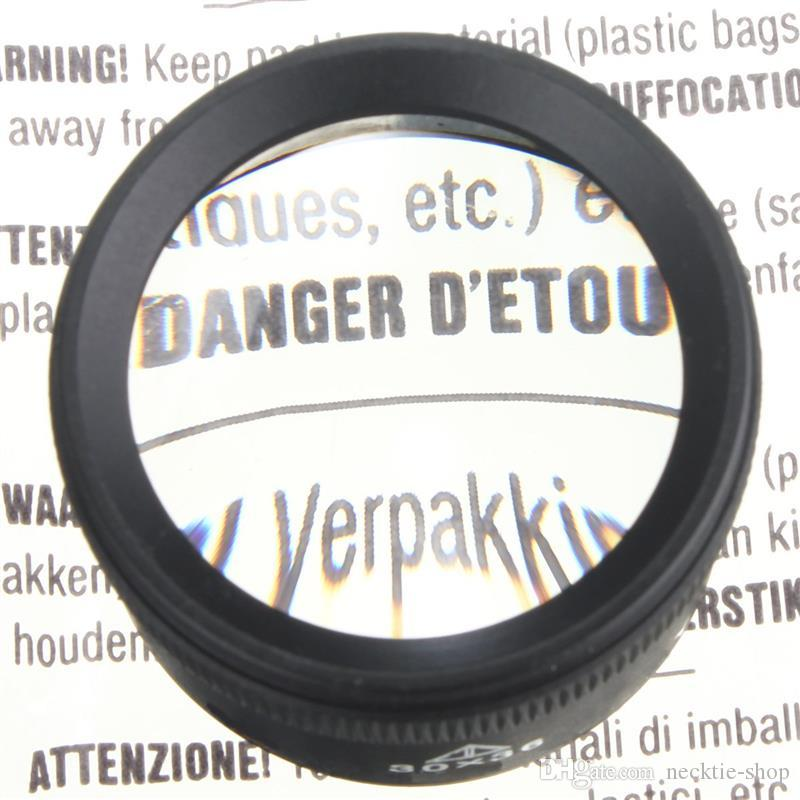 Nero 30 X 36mm Gioiello Ottica Lenti d'ingrandimento Lente d'ingrandimento Strumento lente di vetro Loop Microscopio Orologio Strumento di riparazione