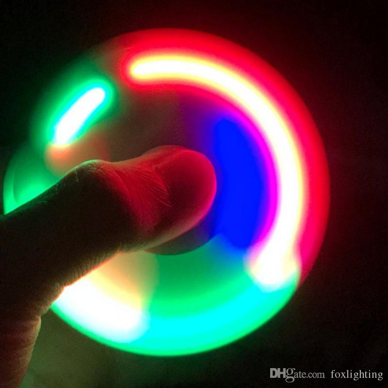 2017 Newest Light Up Hand Spinners LED Bright Fid Spinner