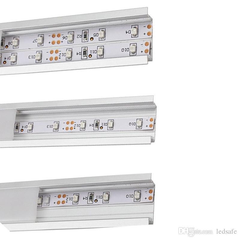 1M الألومنيوم LED بار الأنوار 12V 100CM قطاع مصباح 5630 SMD إضاءة مجلس الوزراء خاملة مطبخ معرض للتسوق نافذة مع قناة الشخصي CE DHL