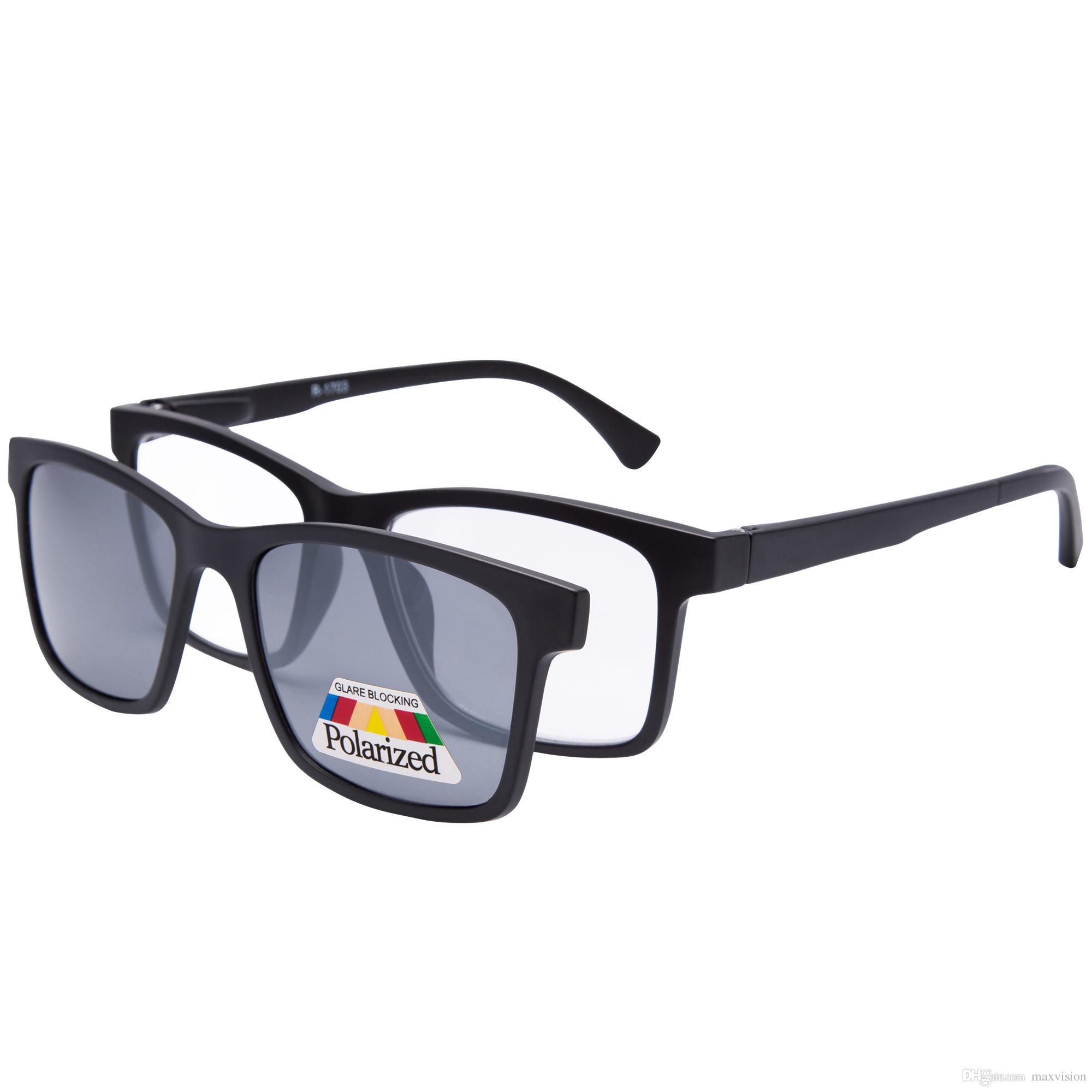 6f90665a35 Lesebrille polarisierte magnetische Clip auf Sonnenbrille Leser Unisex  Cover schwarz
