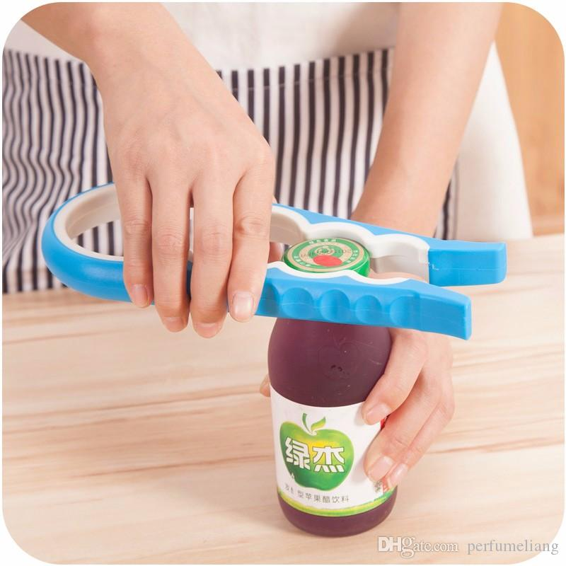 Fashion Screw Cap Jar Bottle Wrench 4 in 1 Creative Multifunction Gourd-shaped Can Opener Kitchen Tool S201701