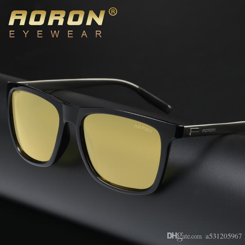212fd2e95e AORON Brand Night Vision Polarized Sunglasses Classic Men s Outdoors ...