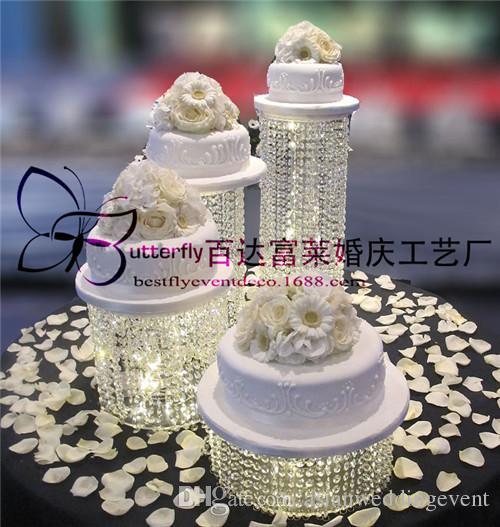 Wedding Crystal Cake Stands cupcake stand Acrylic Paty cake holders Banquet Cake display rack