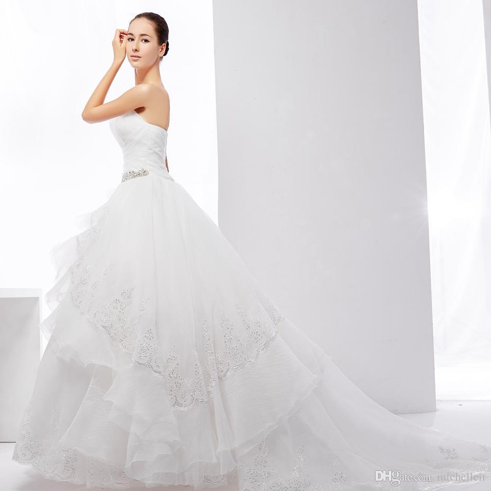 Großhandel Das Schönste Brautkleid Der Welt Von Michelleir, $1004.03 ...