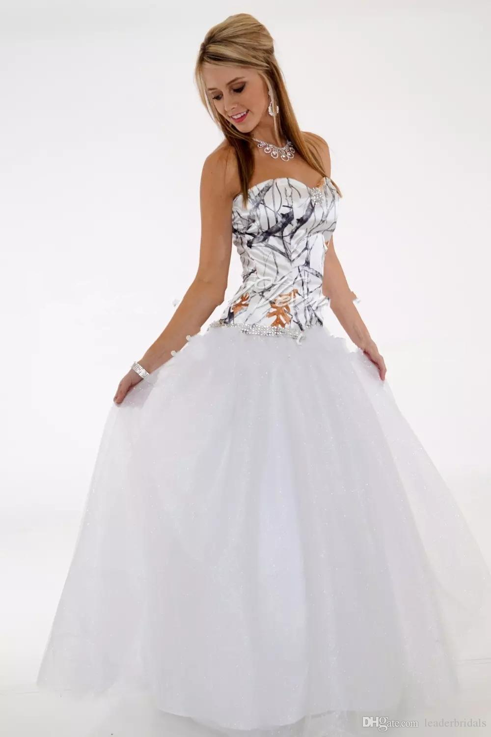 Discount True Timber Snowfall Camouflage Wedding Dresses White ...