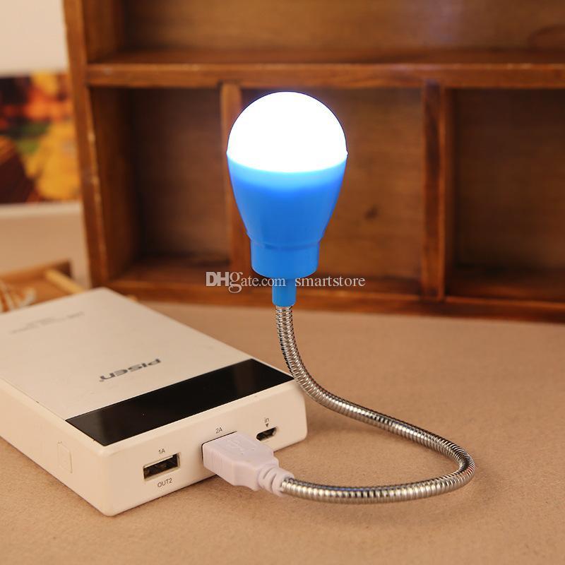 luce USB Power Reading Pieghevole PC Notebook LED Lampadina Luci Lampada Notte 0001