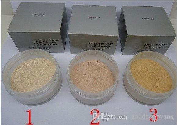 고품질 로라 메르시에 3 색 파운데이션 루스 세팅 파우더 29g 픽스쳐 메이 컵 파우더 민트 포 더 브라 센 컨실러