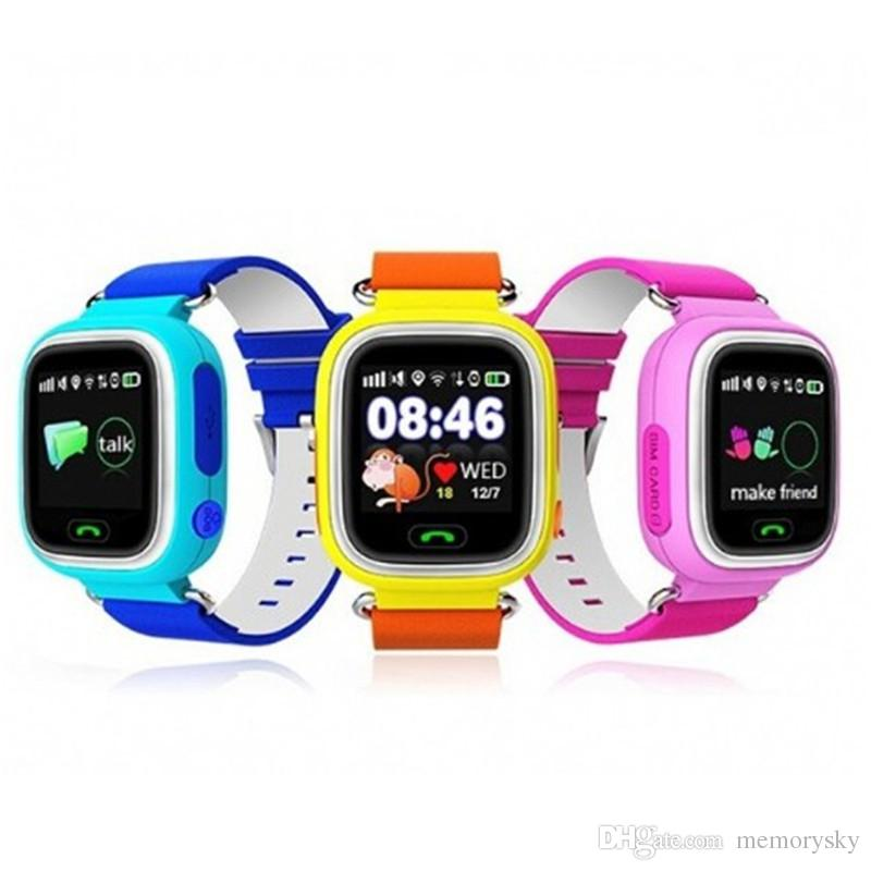 Q90 GPS kids smart watch baby kid watch Wristband with Wifi touch screen SOS Call Location Device Safe Anti-Lost Monitor PK Q80 Q60