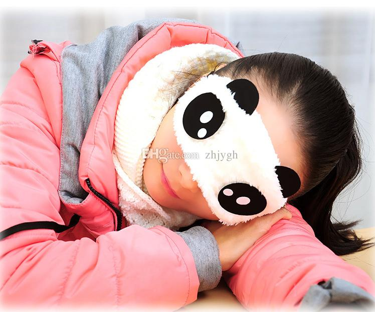 En gros Livraison Gratuite Panda Sommeil Masque Pour Les Yeux Nap Nap Yeux De Bande Dessinée Bandeau Pour Les Yeux Sommeil Couverture Sleeping Travel Rest Patch Blinder