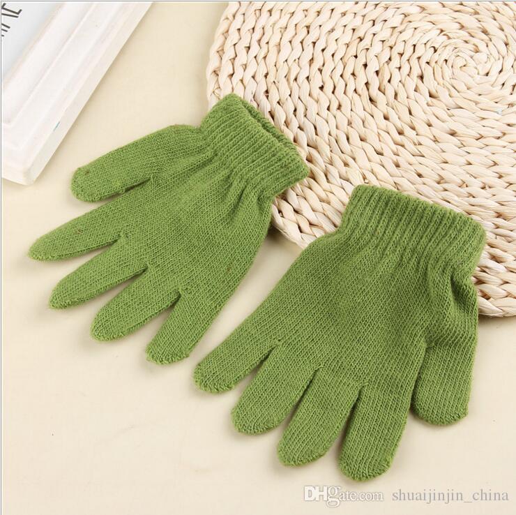 i moda bambini guanti magici bambini ragazza ragazzi bambini che allungano a maglia guanti caldi invernali OOA7135