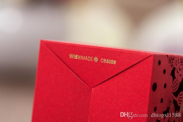 Hot Wedding Favors Boxen Candy Box Party Favors Hohlhochzeit Candy Box Bevorzugung Schokoladenboxen Candy Bags Kuchenboxen