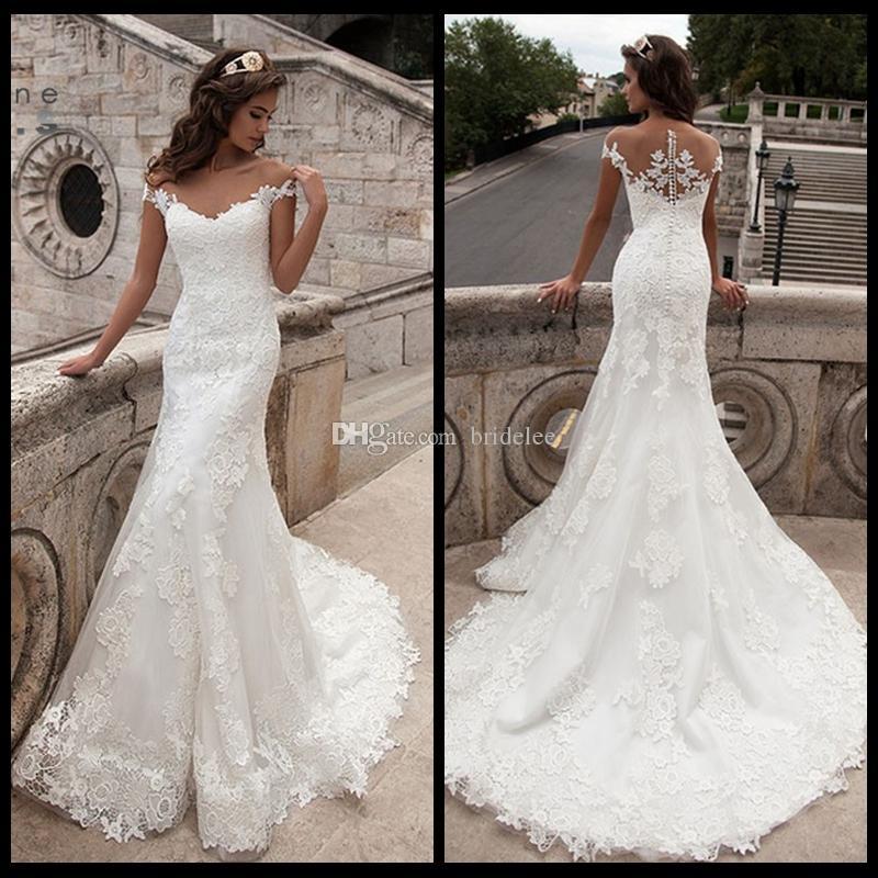Mermaid Wedding Gowns 2019: Großhandel 2019 Vintage Mermaid Brautkleid Full Length